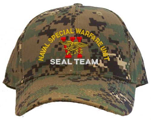 Seal Team Six Spec Ops Embroidered Baseball Cap - Camo