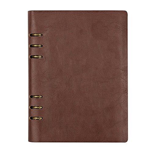 TWBBetter Notizbuch Vintage Weiches Leder Abdeckung Tagebuch A5 Reisen Labor Bücher Sketchbook leer Buch Ringbuch