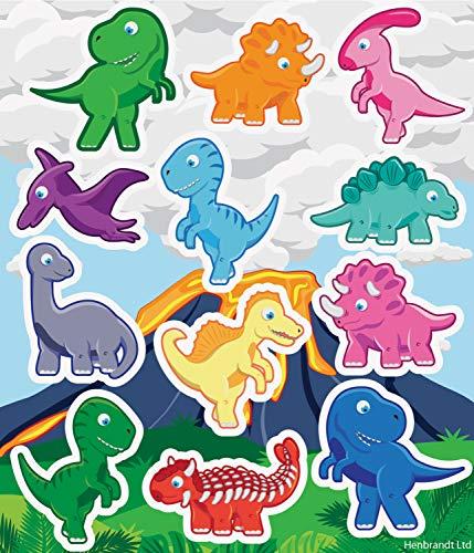 Henbrandt Mini Stickers Dinosaures 6 Feuilles