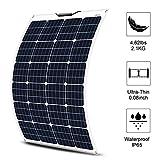 ECO-WORTHY 12V 130W Panel Solar Flexible Para Cargar la Batería de RV, Barco y Más