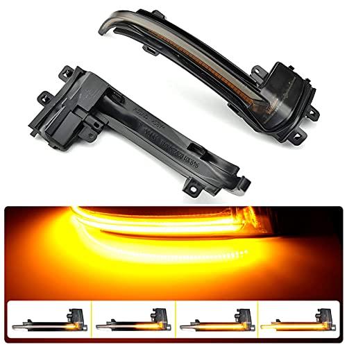 1 par de intermitentes LED dinámicos de repuesto para A-udi A4 A5 B8.5 RS3 A3 8P S5 RS4 RS5, intermitentes LED para espejo