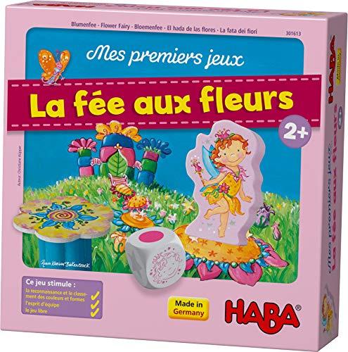 HABA 301613 - Erste Spiele der Fee auf den Blumen – EIN kooperatives Spiel zum Stapeln und zur Korrespondenz der Farben für mehr als 2 Jahre (Made in Germany)