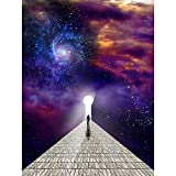 Wee Blue Coo Man Before Keyhole Surreal Abstract Space Nebula Galaxy...
