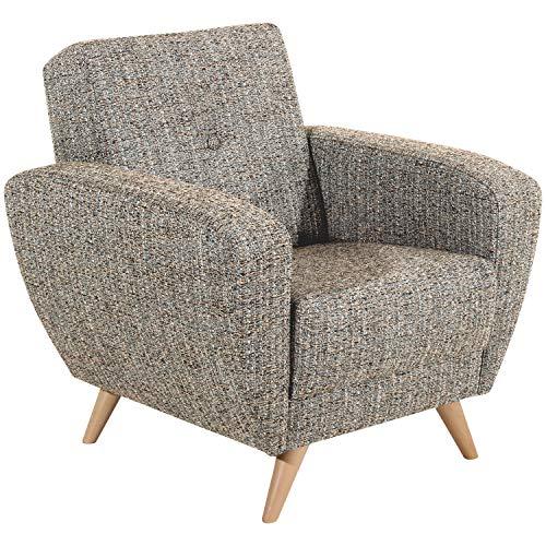 Max Winzer® Sessel Jerry, beige, grober Strukturstoff (Boucle), Retro, passend zum Sofa Jerry, 83 x 82 x 85 cm