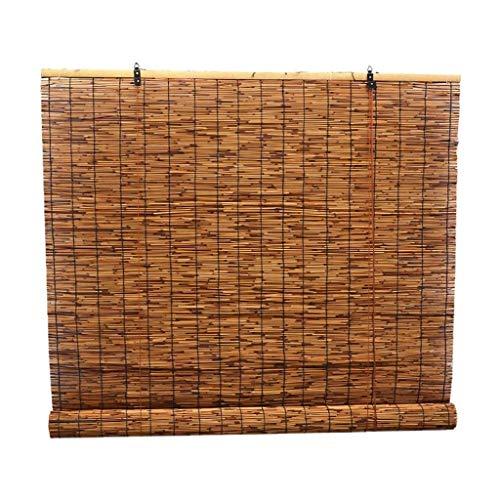 Bambú Cortina Cortina de caña Persiana Puerta Cortina Decoración Retro Levantamiento Sombreado Sombrilla Dividir Cortina (Color : A, Size : 130x350cm/51x138in)