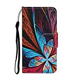 JZ A5 2020 Painting Design Funda PU Leather Shockproof Flip Cover For para OPPO A5 2020 / A9 2020 / A11 / A11X - Colorful Flower