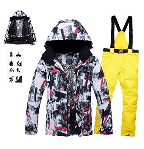 DUBAOBAO Heren ski pakken, ski dragen waterdichte warme lucht past 2019 nieuwe, outdoor winter temperatuur lock lus dubbele plaat ski broek snowboard, ski pakken