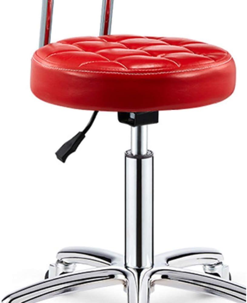 Chaise De Bureau À roulettes avec Roues Rotatives À 360 Degrés Siège avec Dossier pour Maison Et Bureau Hauteur Réglable,Gris White