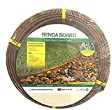 One Stop Outdoor USA Made - Heavy Duty Landscape Edging, Garden Planter & Pathway Bender Board Edge Border Kit - Thick Pro-Grade Style Terrace Board 3.3' H x 16'ft L - Includes 4 Stakes Color: Brown