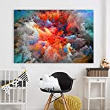 KWzEQ Imprimir en Lienzo Abstract Colorful Clouds modernposter y decoración para Sala de estar60x90cmPintura sin Marco