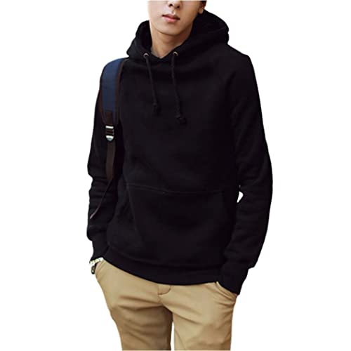 Mens Black Block Hoodies Pullover Hoodie Sweatshirt Outwer