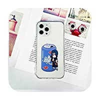 かわいい漫画の動物の透明な電話ケースfor iPhone 12 Pro Max 11 Pro Max XS XR X 7 8 Plus明確な耐衝撃カメラ保護-Transparent Image C-iphone 11promax