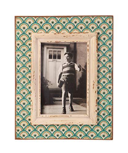 SASS y Belle Diseño a Sello x Frame_P, Madera, Aqua/Pink, 15 x 10 cm