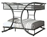 Furniture of America Central X-Shape Metal Bunk Bed, Full Over Full,...