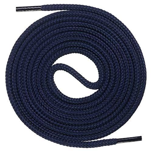 Mount Swiss runde Premium-Schnürsenkel für Business- und Lederschuhe - reißfester Allroundsenkel - ø 3mm - Farbe Dunkelblau Länge 120cm
