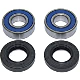Caltric Front Wheel Ball Bearings & Seals Kit Compatible with Suzuki Ltf250 Ozark 250 Lt-F250 2002-2006 K2 K3