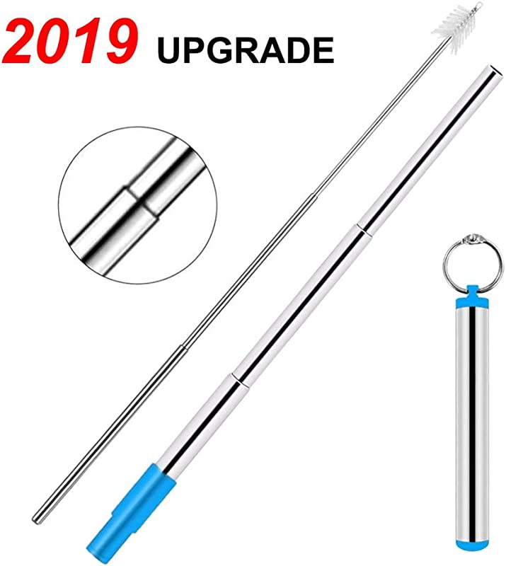 Reusable Metal Straws With Case And Cleaning Brush Eco Friendly Safe Portable Straw Save The Turtles