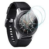 KIMILAR [3 Pièces] Écran Compatible avec Samsung Galaxy Watch 46mm / Gear S3 Protection Écran, 9H Dureté Protecteur D'écran en Verre Trempé pour Watch 46mm & Gear S3 Frontier/Classic