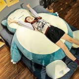 TAMYUN Giant Snorlax Plush Snorlax Pillow Snorlax Bean Bag Chair Large Size Stuffed Toys 30/50/80/100/130/150/200cm Snorlax Stuffed Animal Toy with Zipper for Girlfriend Birthday Snorlax Bed