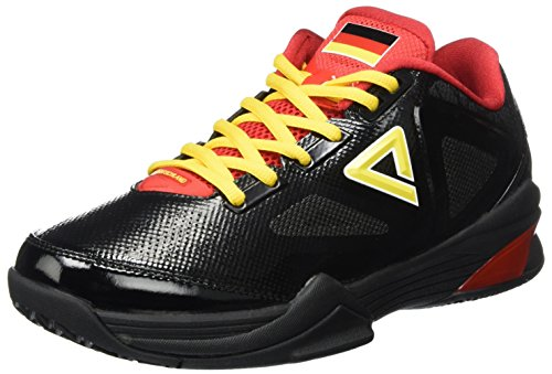 Peak Sport Europe Basketballshoe Tony Parker LowCut, Zapatillas de Baloncesto Hombre, Negro Germany Black, 41 EU