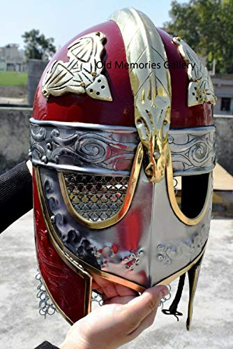 Middeleeuwse Viking Crusader Helm Warrior Armor Knight Volwassenen Kostuum Functionele rol spelen