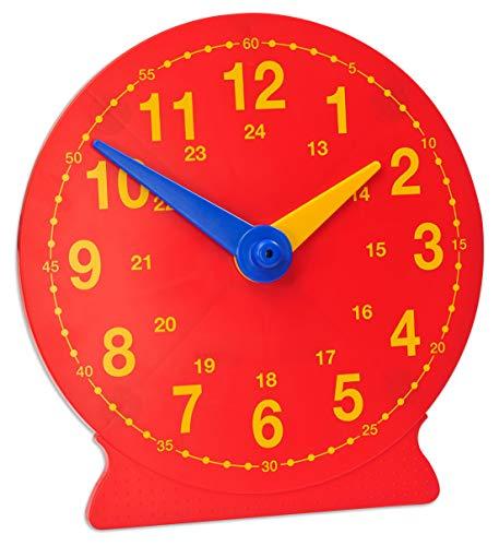 Betzold 2619 - Demonstrations-Uhr, Lern-Uhr Durchmesser 41 cm - Mathe Rechenuhr