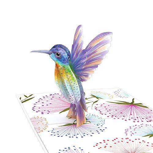 Lovepop Mothers Day Hummingbird Pop Up Card - 3D Card, Mothers Day Card, Card for Mom, Card for Wife, Pop Up Mother's Day Card, Happy Mother's Day