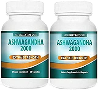 Ashwagandha Strong Extract Capsules   Ayurvedic Remedy for Stress, Anxiety and Fatigue   100% Vegan   Indian Ginseng   Withania Somnifera   Best Value  