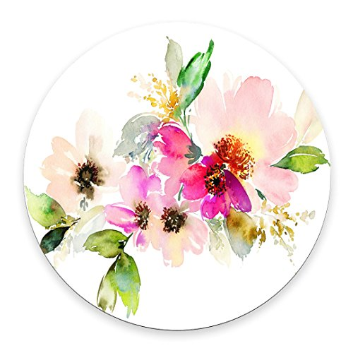 Beautiful Watercolor Flower Round Mouse pad Customized Non Slip Rubber Round Mouse pad Non Slip Rubber Mouse pad Gaming Mouse Pad
