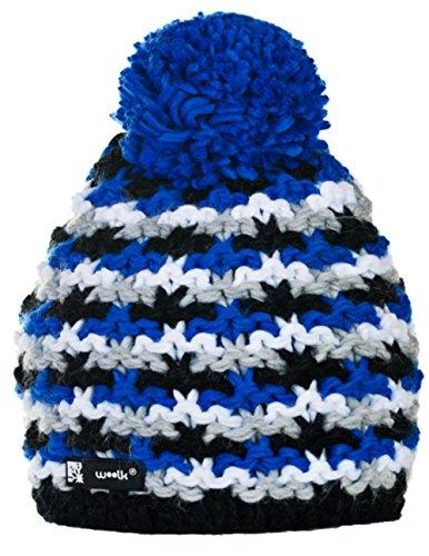Wollig Wurm Winter NORDIC BATTY beanie muts met ponpon dames heren HAT HATS Fashion SKI snowboard Morefazltd (TM)