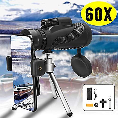 SanyaoDU Monocular 40X60 prismáticos de Gran Alcance de Zoom portátil Grande telescopio de visión Nocturna HD Profesionales de Caza