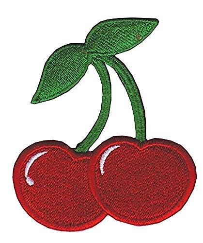 Kirsche - Aufnäher, Farbe: Rot/Grün