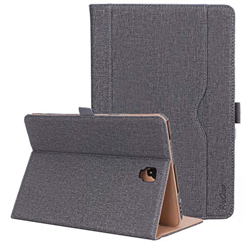 ProCase Samsung Galaxy Tab S4 10.5'' (SM- T830 T835 T837) Folio Stand Case, Premium PU Leather Smart Cover, with Auto Sleep/Wake, Pen Holder Document Card Slots -Grey