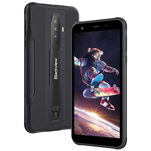 Móvil Resistente Outdoor 4G, Blackview BV6300 Pro Android 10 Telefono Movil Antigolpes, Helio P70 Octa-Cor 6GB+128GB, 5.7'' 11,6 mm Ultrafino, 16MP+13MP con Smart HDR, Dual SIM/GPS/NFC/Face ID