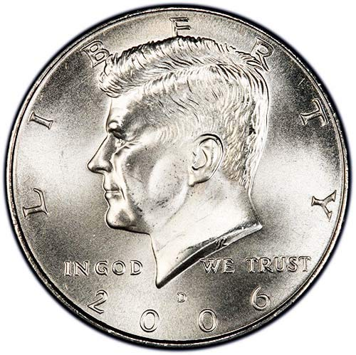 2006 D Satin Finish Kennedy Half Dollar Choice Uncirculated US Mint