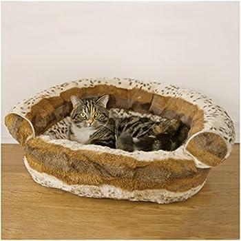Rosewood Panier Canapé Motifs Hyène pour Chat ou Petit Chien 51 cm