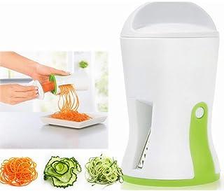 ZJZ 3 en 1 légumes Spiralizer Veggie Spiral Slicer Portable avec des Lames réglables en Acier Inoxydable