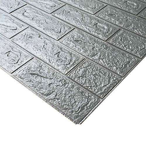 YUMUO - Adhesivo decorativo para pared de ladrillo, 3D, estéreo, resistente al agua, para guardería, anticolisión, autoadhesivo, 70 x 77 cm