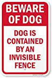 SmartSign 'Beware Of Dog - Dog Contained by Invisible Fence' Sign | 12' x 18' Aluminum