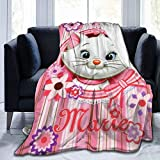 Throw Blanket The Aristo-Cats Ma-RIE Ultra-Soft Micro Fleece Blanket Bedroom Bedding for Couch Bed Warm 60'X50'