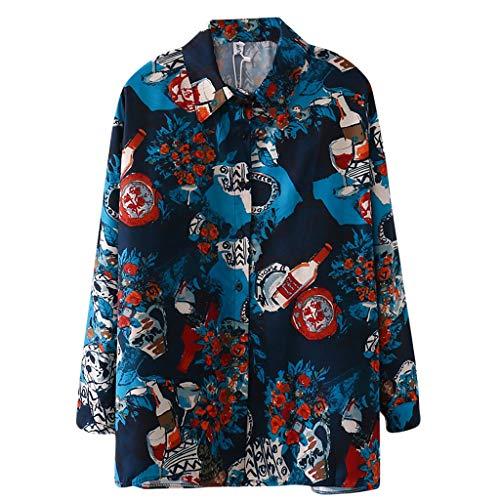 Hodarey アロハシャツ ハワイシャツ シャツ レディース ブラウス 半袖 長袖 ユニセックス 花柄 猫柄 薄手 カジュアル 日韓風 Tシャツ ビーチ 日焼け止め服 スキッパー 通勤 OL きれいめ 着やせ ヴィンテージプリントトップス