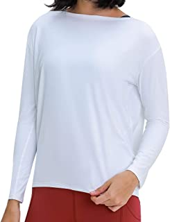 Raroauf Long Sleeve Workout Shirts for Womens Loose Fit Yoga Shirts,Casual Fall Tops Shirts,Activewear Tops