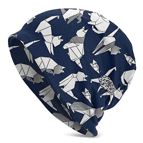 BEDKKJY Origami Kitten Friends Azul Marino Fondo de Papel...