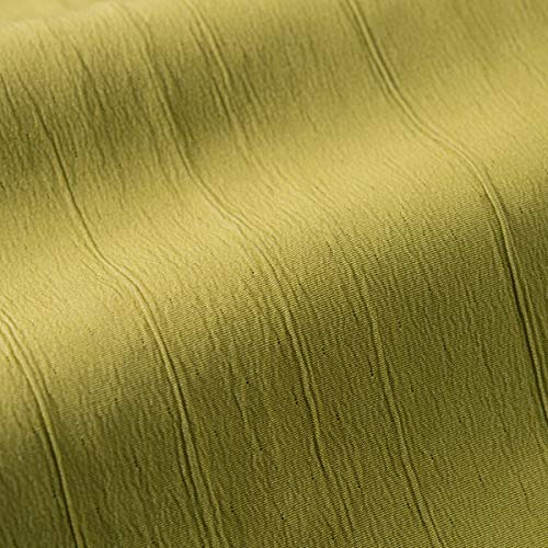 englisch dekor Dekostoff Vorhangstoff schwer entflammbar DIMOUT Uni grün hochwertiger Stoff mit Crash-Effekt als Meterware, schalldämmend, Blickdicht