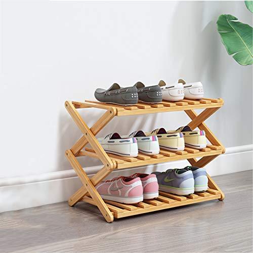 Vocd Schoenenrek met 3 niveaus, stapelbaar en verstelbaar, multifunctionele schoenenorganisator met extra grote capaciteit, voor laarzen, hoge hakken, pantoffels en meer