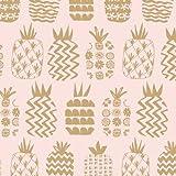 Dashwood Ananas-Stoff - Ananas Gold Metallic - 0,5 Meter -