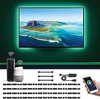 Lepro Alexa対応 LED テープライト RGB テレビバックライト 0.5Mx4本 Alexa/Google Assistant対応可能 USB給電式 WIFIコントロール 間接照明 イルミネーション クリスマス飾り パーティー...