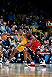Michael Jordan & Kobe Bryant 1998 Action Glossy Photograph Photo Print, 24' x 36' (60 x 91.5 cm)