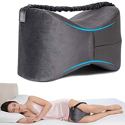 DESPERTAR SIN DOLOR – La almohada ergonómica se ajusta cómodamente entre las piernas, proporcionando una alineación ideal que alivia la presión sobre la columna vertebral, las caderas, las rodillas y la espalda. También puede servir de apoyo al cuerp...