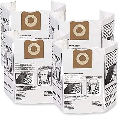 WORKSHOP Wet Dry Vacuum Bags WS32200F2 Fine Dust Collection Shop Vacuum Bags (2-Pack / 4 Shop Vacuum Bags), Bag Filter For WORKSHOP 12-Gallon To 16-Gallon Shop Vacuum Cleaners